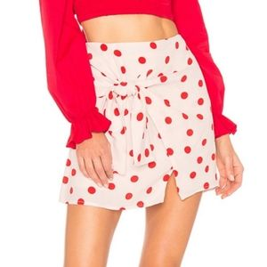 Lovers + Friends Dotted Wrap Quinn Mini Skirt